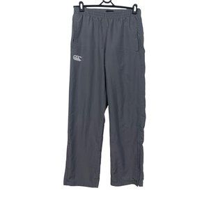 Canterbury Tracksuit Pants Mens Size S Grey Polyester Softshell Straight Fit
